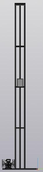 "3D-Модель стенда ""Лифт"". Вид спереди"